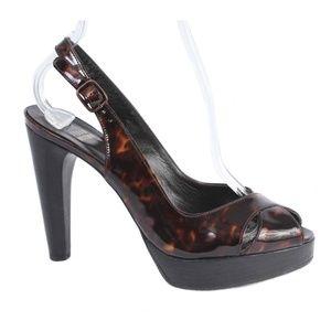 Stuart Weitzman Tortoise Patent Leather Heels